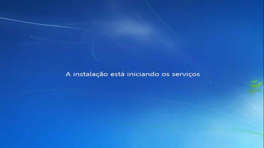 A instalação do windows esta iniciando os serviços