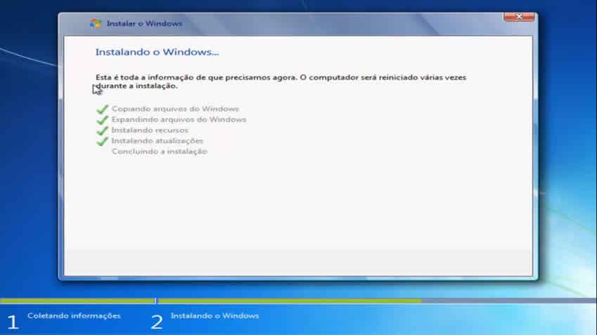 Instalando windows 7 em meu computador