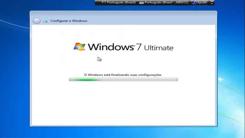 Finalizando a instalação do windows