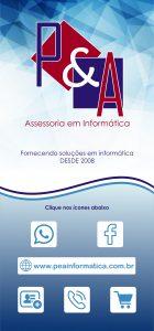 Cartão de visita digital P&A Informática Jundiaí